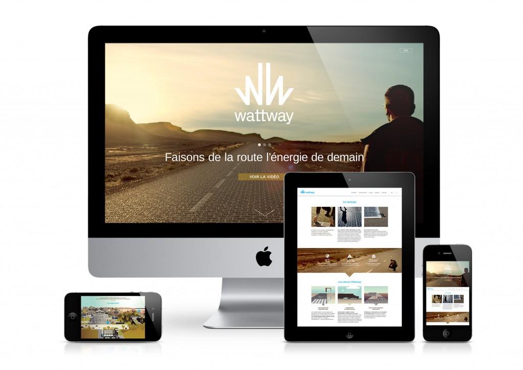 Wattway web mockup fond blanc