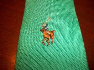 vintage-polo-ralph-lauren-handmade-linen-tie-green-pony_330526354316