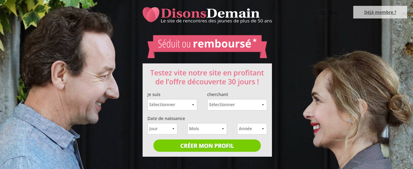 meetic lance disons demain le site de rencontre des plus de 50 ans. Black Bedroom Furniture Sets. Home Design Ideas