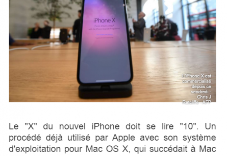 "Pourquoi l'iPhone X se dit ""iPhone 10""?"