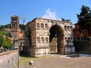 L'Arc de Janus quadriface à Rome.
