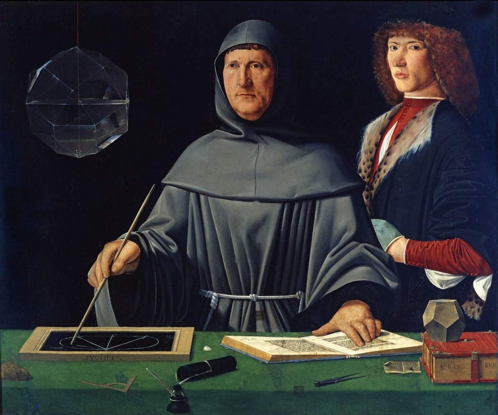 Portrait de Fra Luca Pacioli et d'un jeune homme non-identifié,