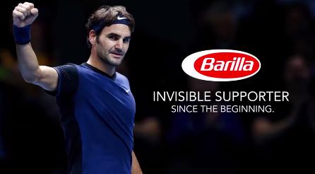 Roger Federer pub Barilla