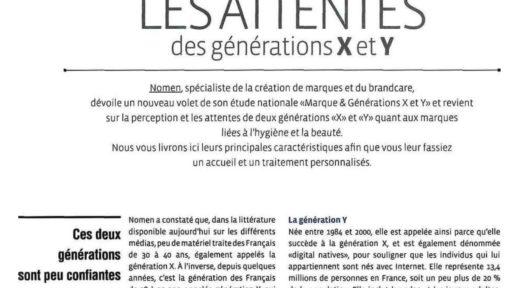 Les attentes des générations X et Y