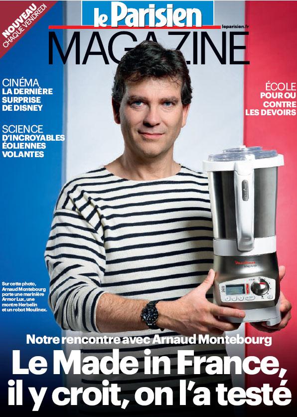 Arnaud Montebourg en marinière en une du Parisien