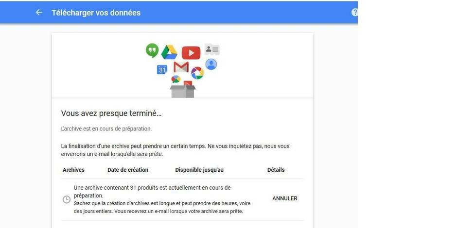 google donnees