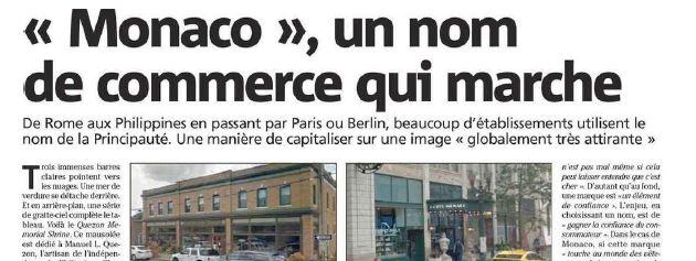 « Monaco », un nom de commerce qui marche