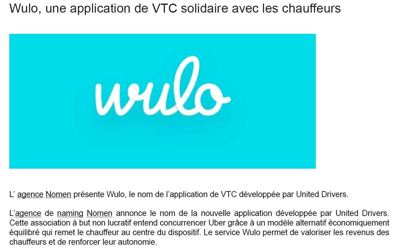 Wulo, une application de VTC solidaire avec les chauffeurs
